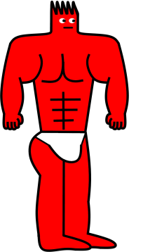 Lordsheen in a loincloth with his ripped muscles on display